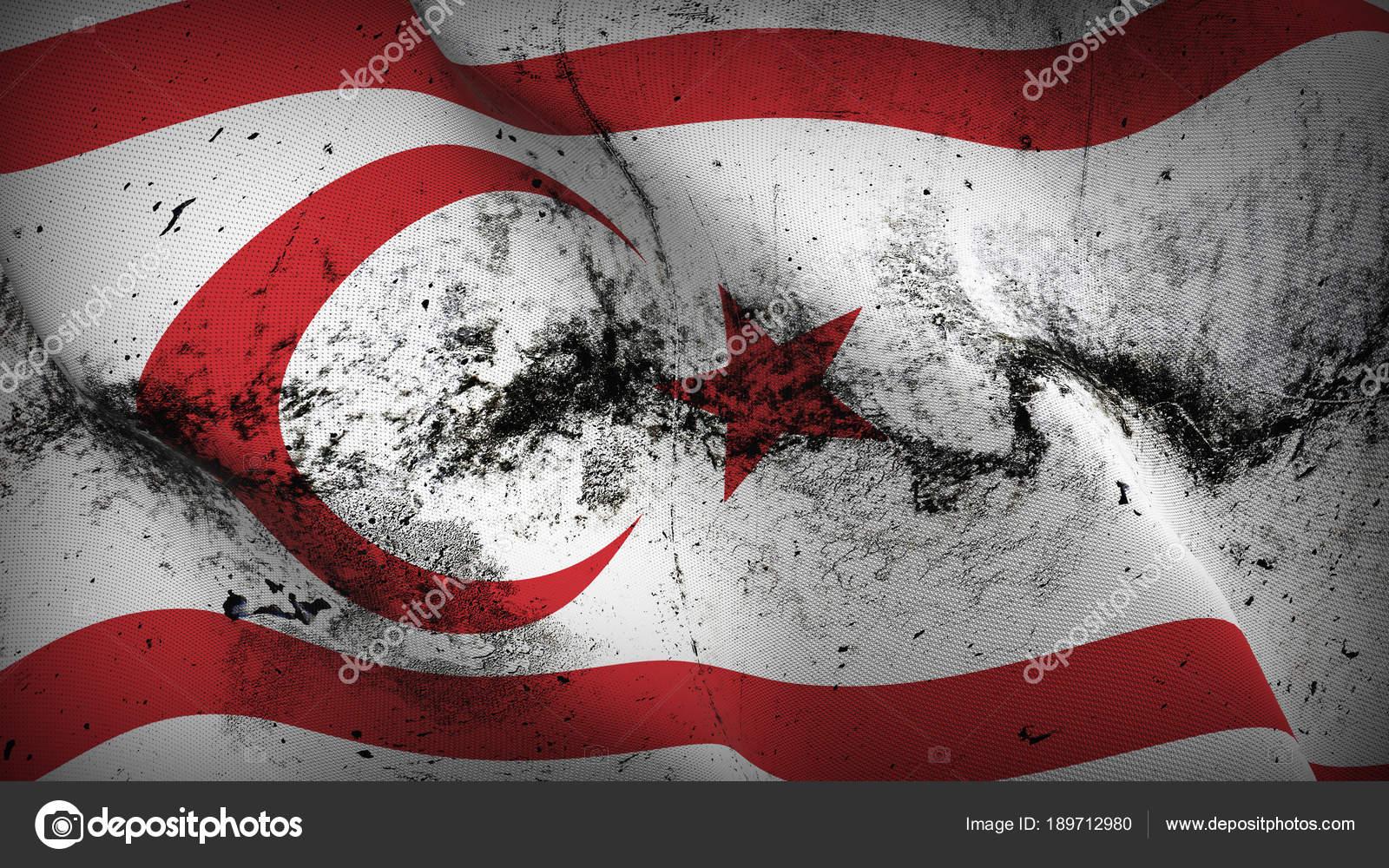 Türk Cumhuriyeti Kuzey Kıbrıs Türk Cumhuriyeti Grunge Bayrak