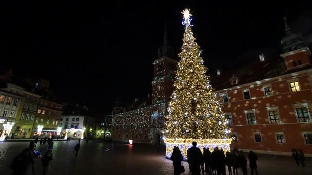 Varšavský hrad v době Vánoc.