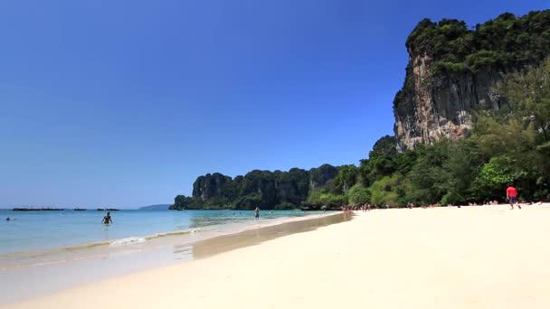 Beautiful Thai Beach. Railay Beach near Krabi. Full HD footage.– stock footage