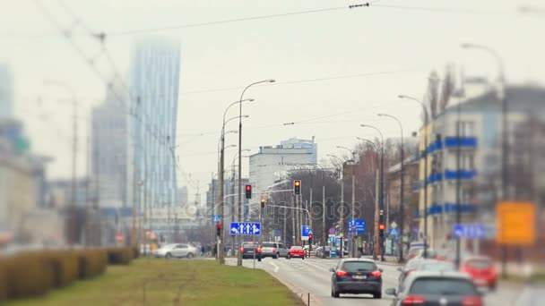 Regular traffic on Warsaws streets.