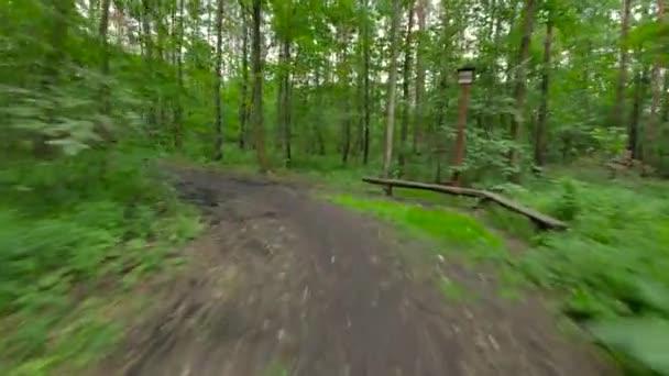 Jízdní kolo v lese osoby.