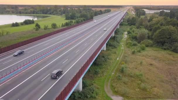 Aerial shot of speedway in Poland