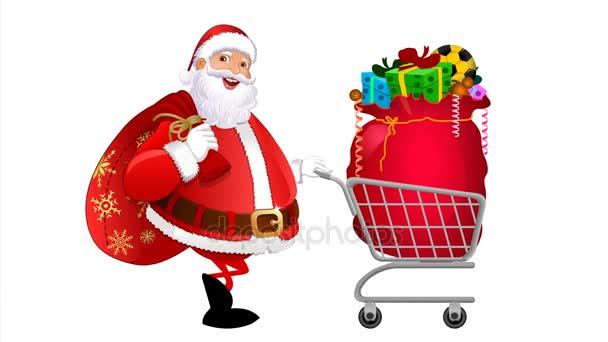 Santa claus s nákupní košík