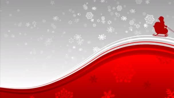Santa Claus na saních Snow flake pozadí
