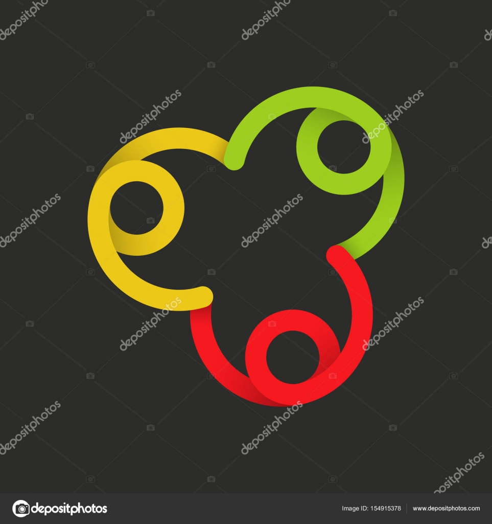 Color Sign Of Unity And Family Vector Template With The Multiplier