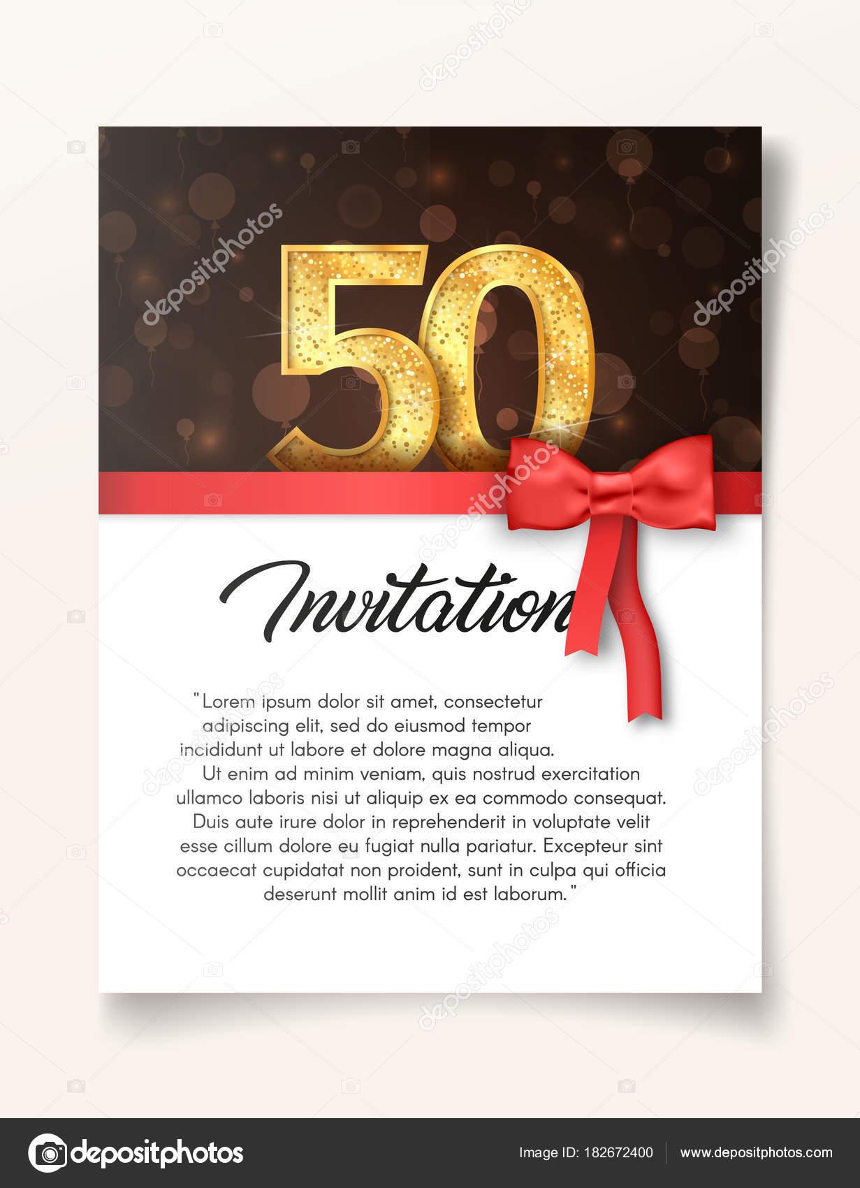 Plantillas Para Invitacion De 50 Años Plantilla De Tarjeta