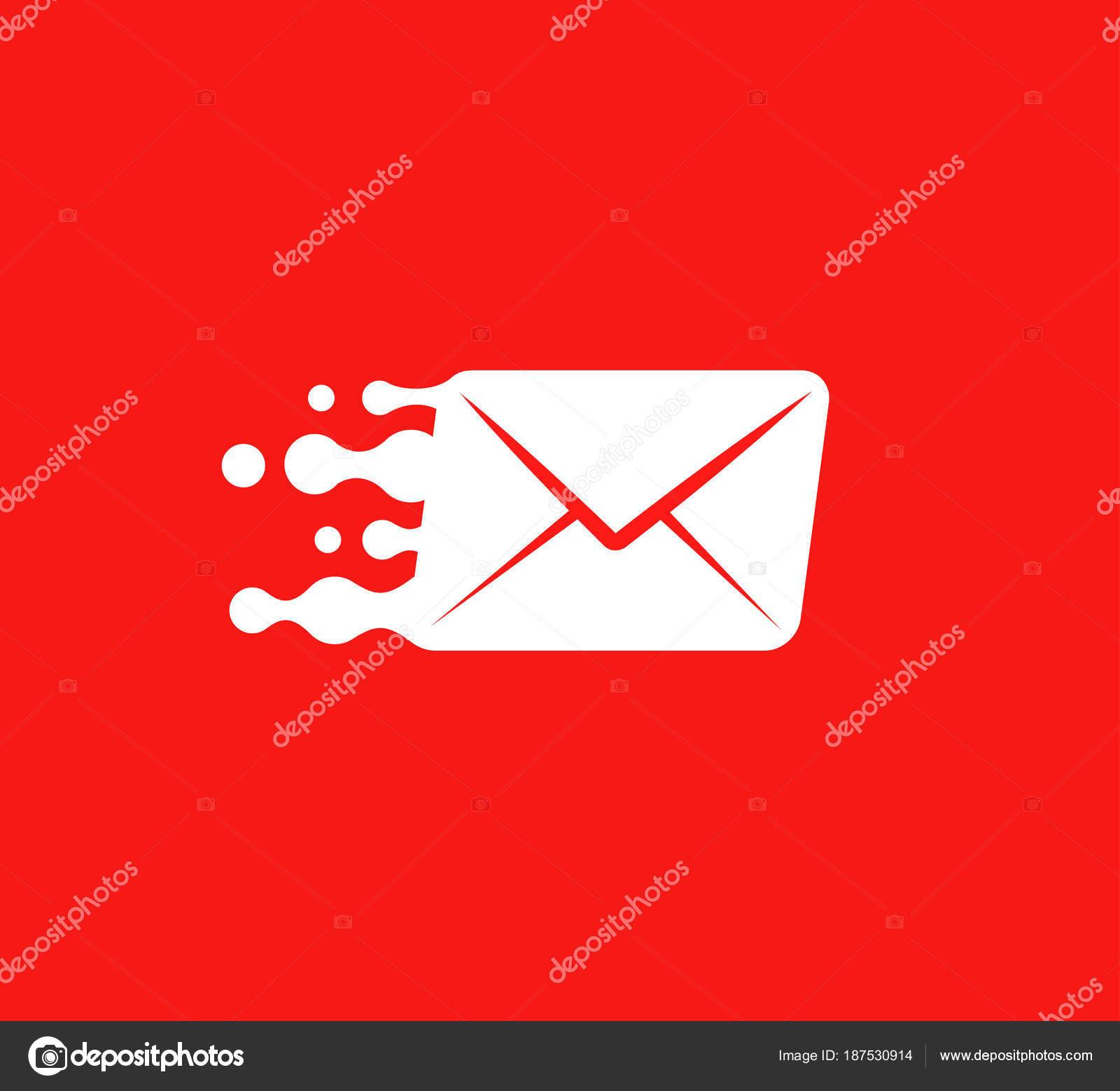 Background Red And White Envelope Logo White Post Envelope