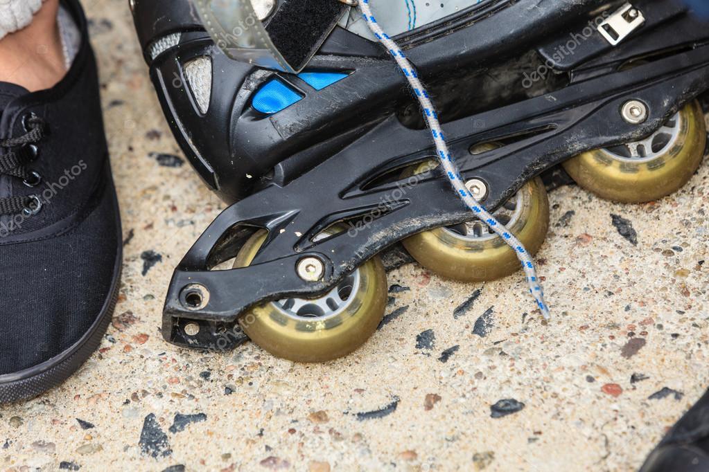 5405f23930a Closeup of roller skates outdoor. — Stock Photo © Anetlanda #128261714