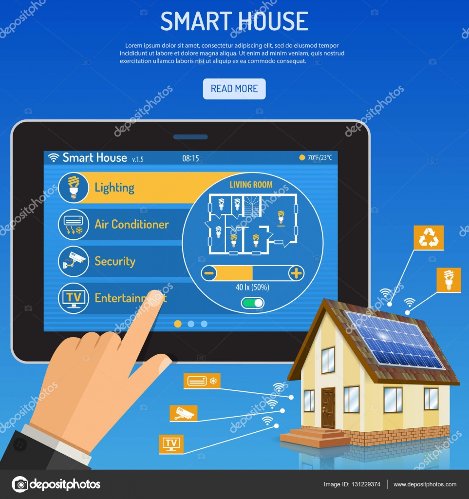 Smart House and internet things Stock Vector TAlexey 131229374