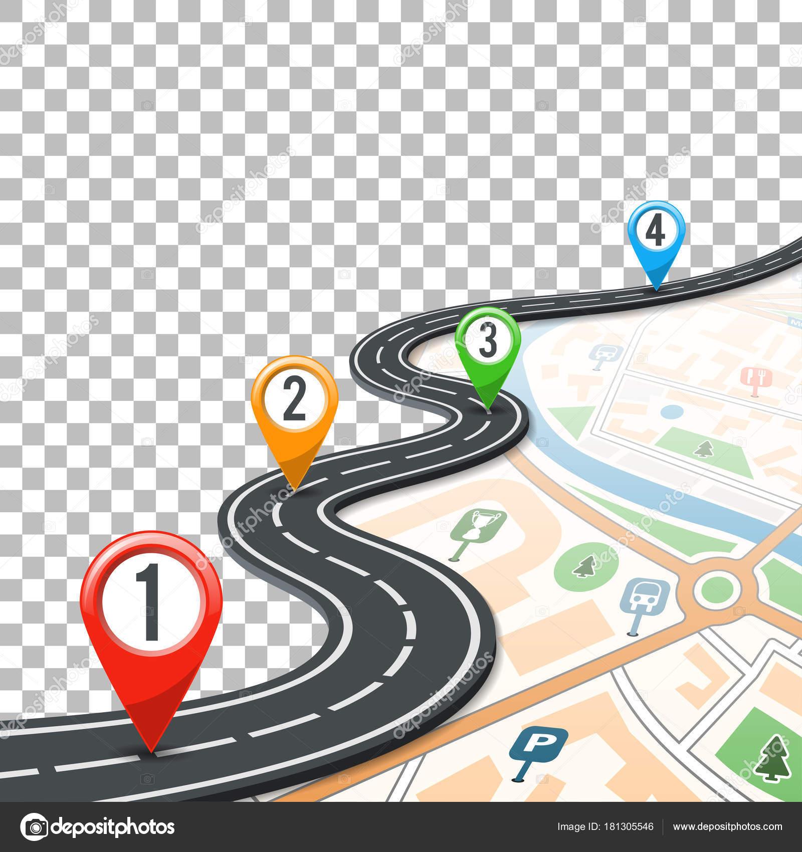Карта с маршрутом картинка