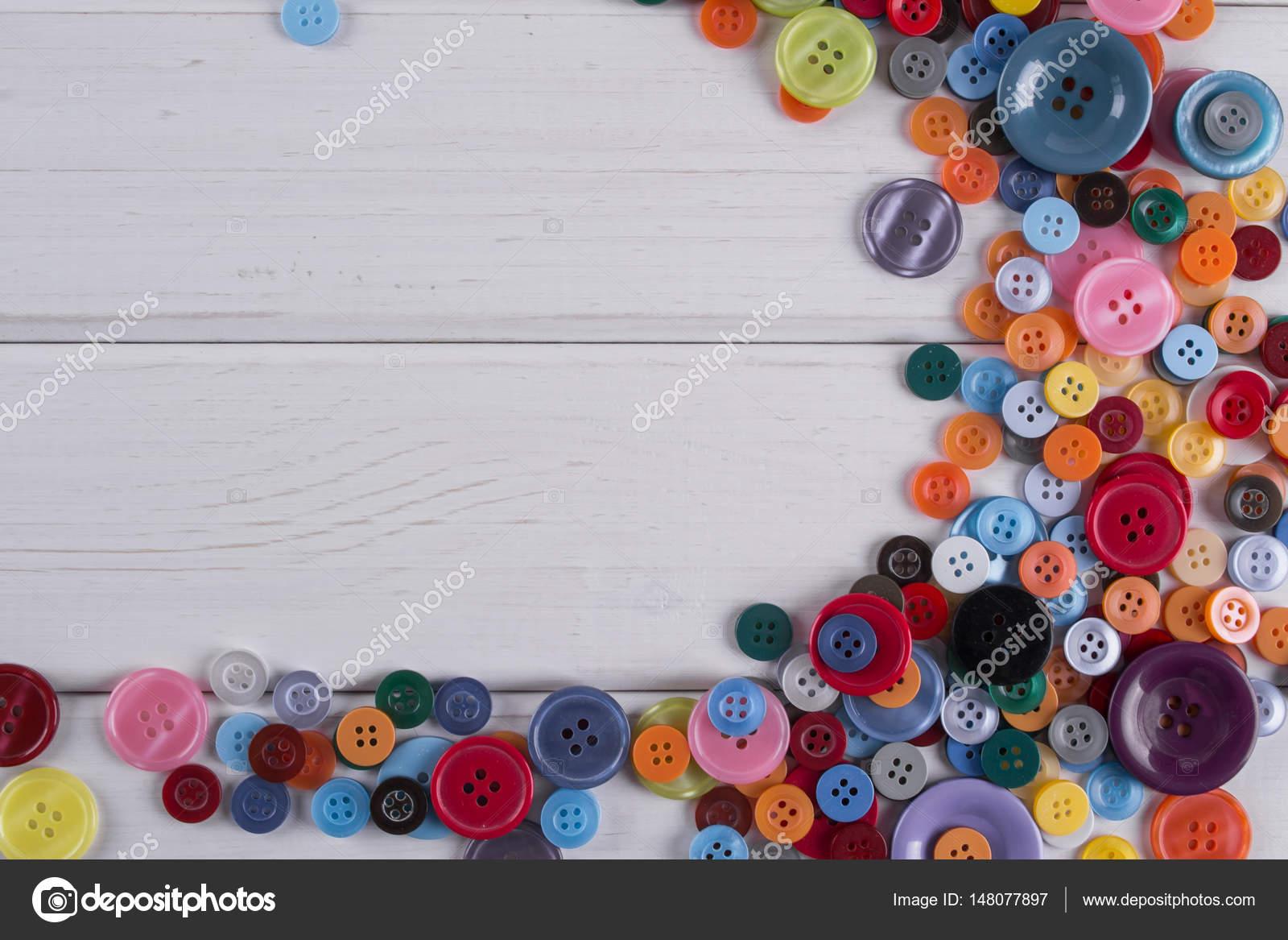 Colourful sewing buttons frame — Stock Photo © irinkavasilinka ...
