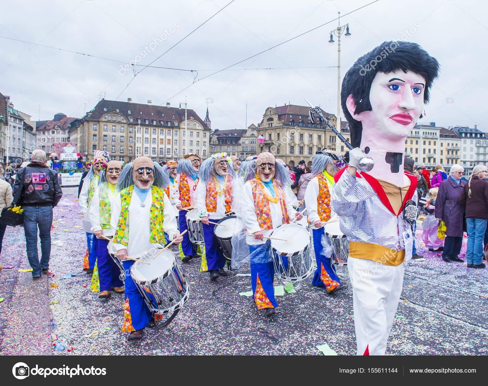 2017 Basler Fasnacht Redaktionelles Stockfoto Kobbydagan 155611144