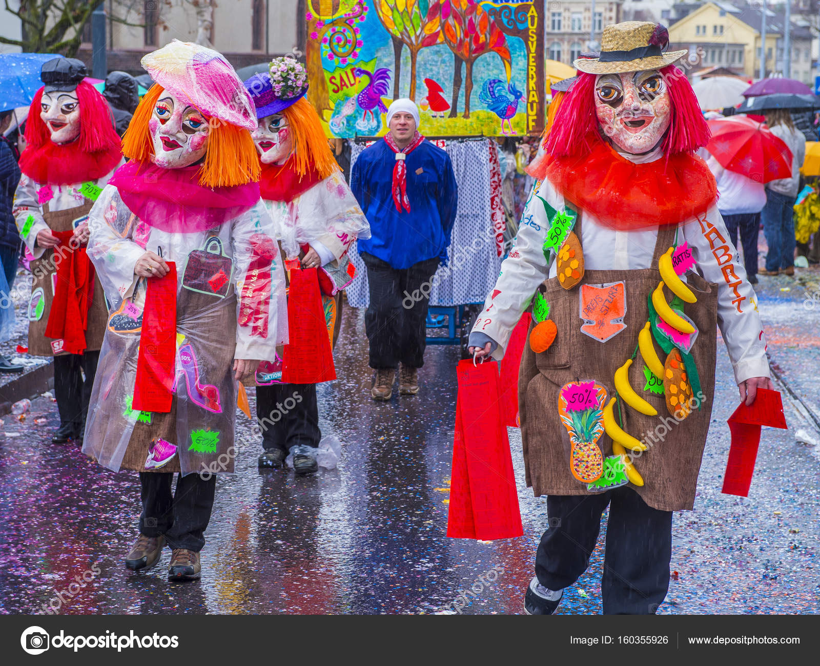 2017 Basler Fasnacht Redaktionelles Stockfoto Kobbydagan 160355926