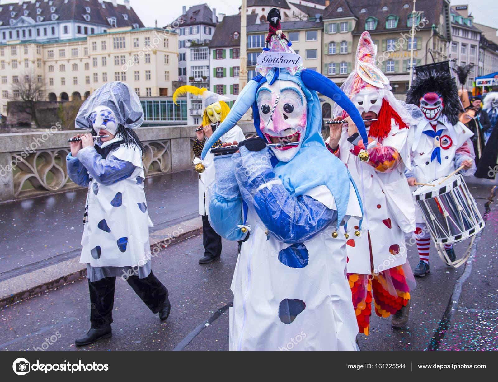 2017 Basler Fasnacht Redaktionelles Stockfoto Kobbydagan 161725544