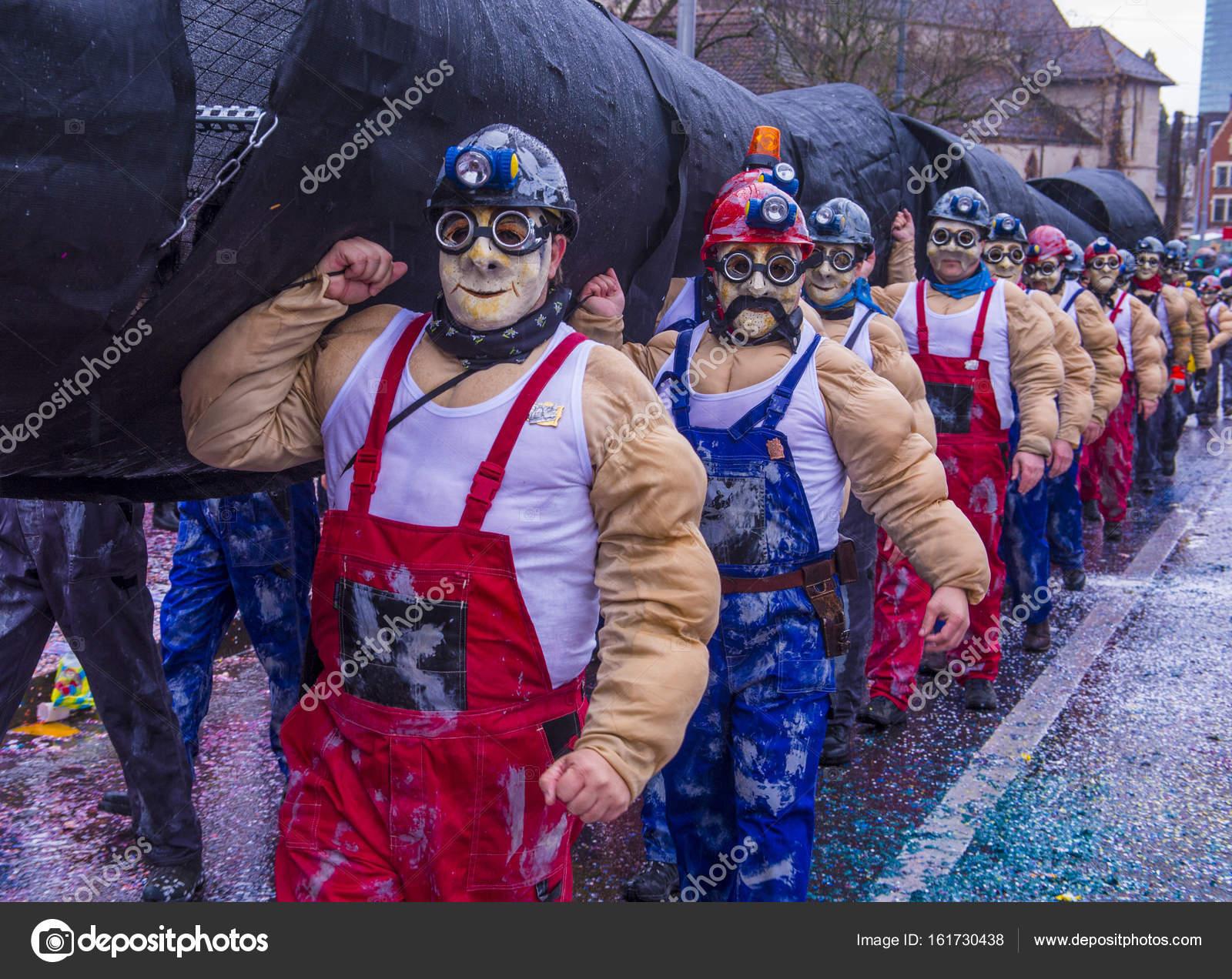 2017 Basler Fasnacht Redaktionelles Stockfoto Kobbydagan 161730438