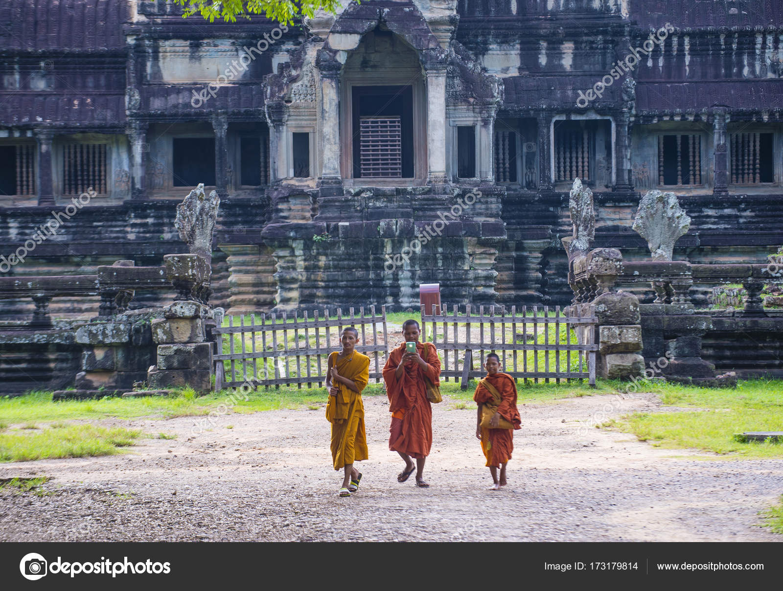 angkor wat temple in cambodia – stock editorial photo © kobbydagan