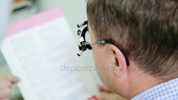 Check of vision at the ophthalmologist