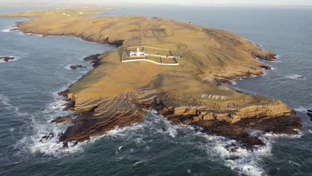Letecký pohled na St. Johns Point, County Donegal, Irsko