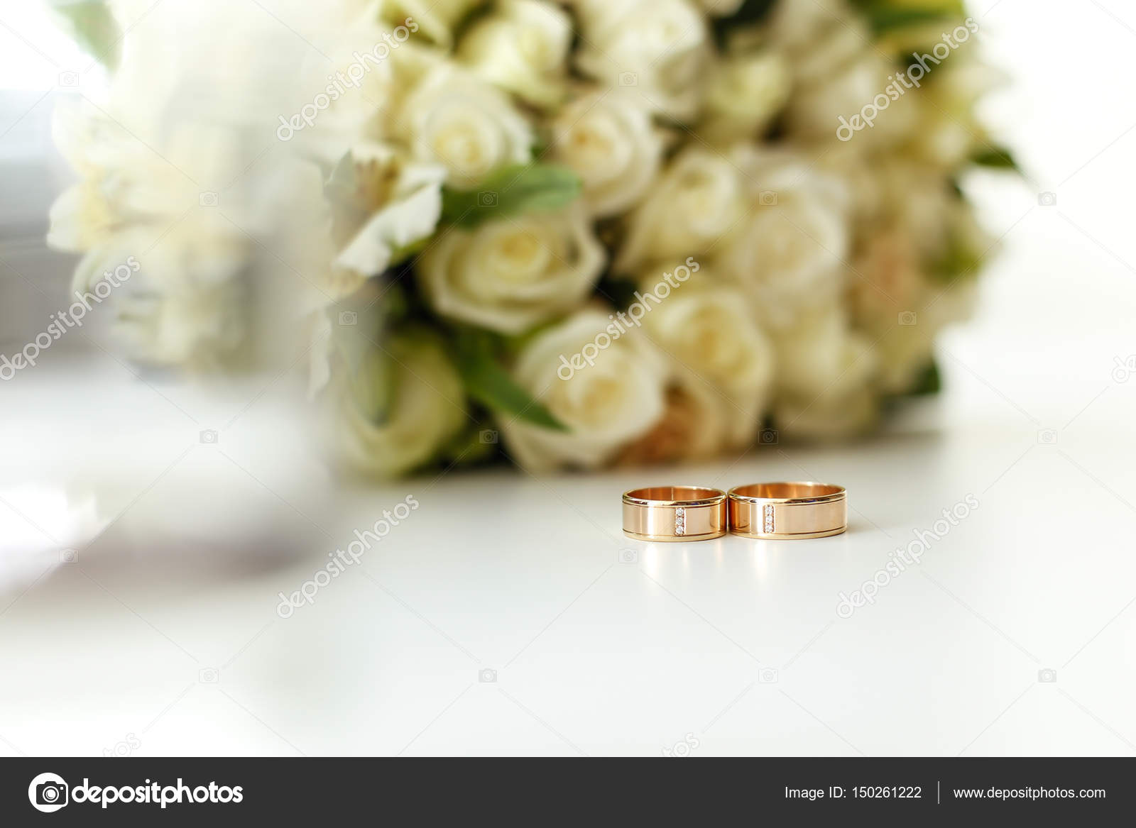 stock bouquet wedding rings royalty picture photo roses and