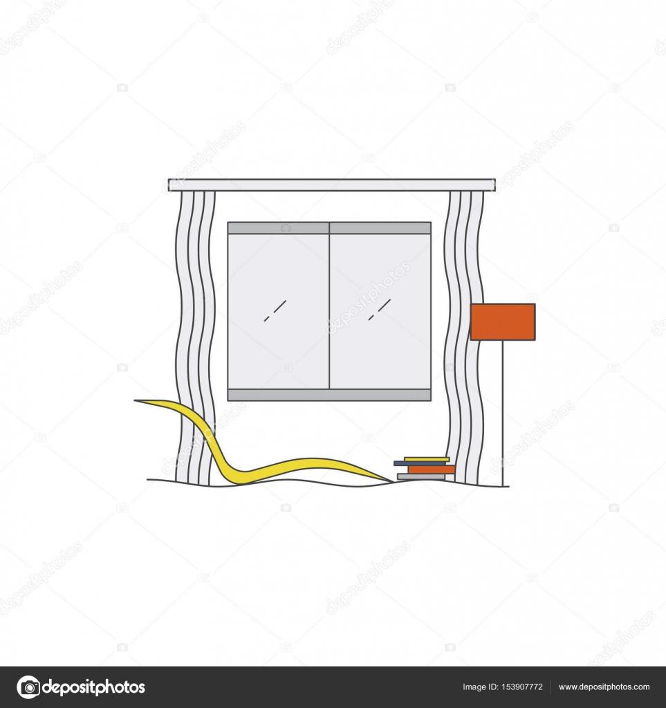 Innenarchitektur in High-Tech-Stil — Stockvektor © elinkim #153907772