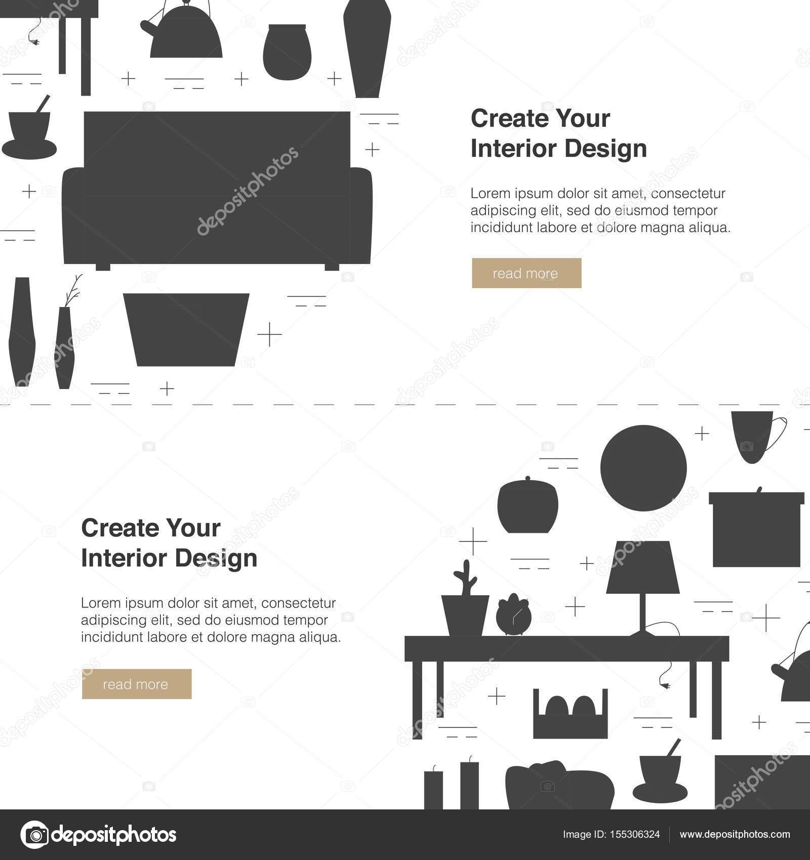 Interior design web banner for Interior design banner images
