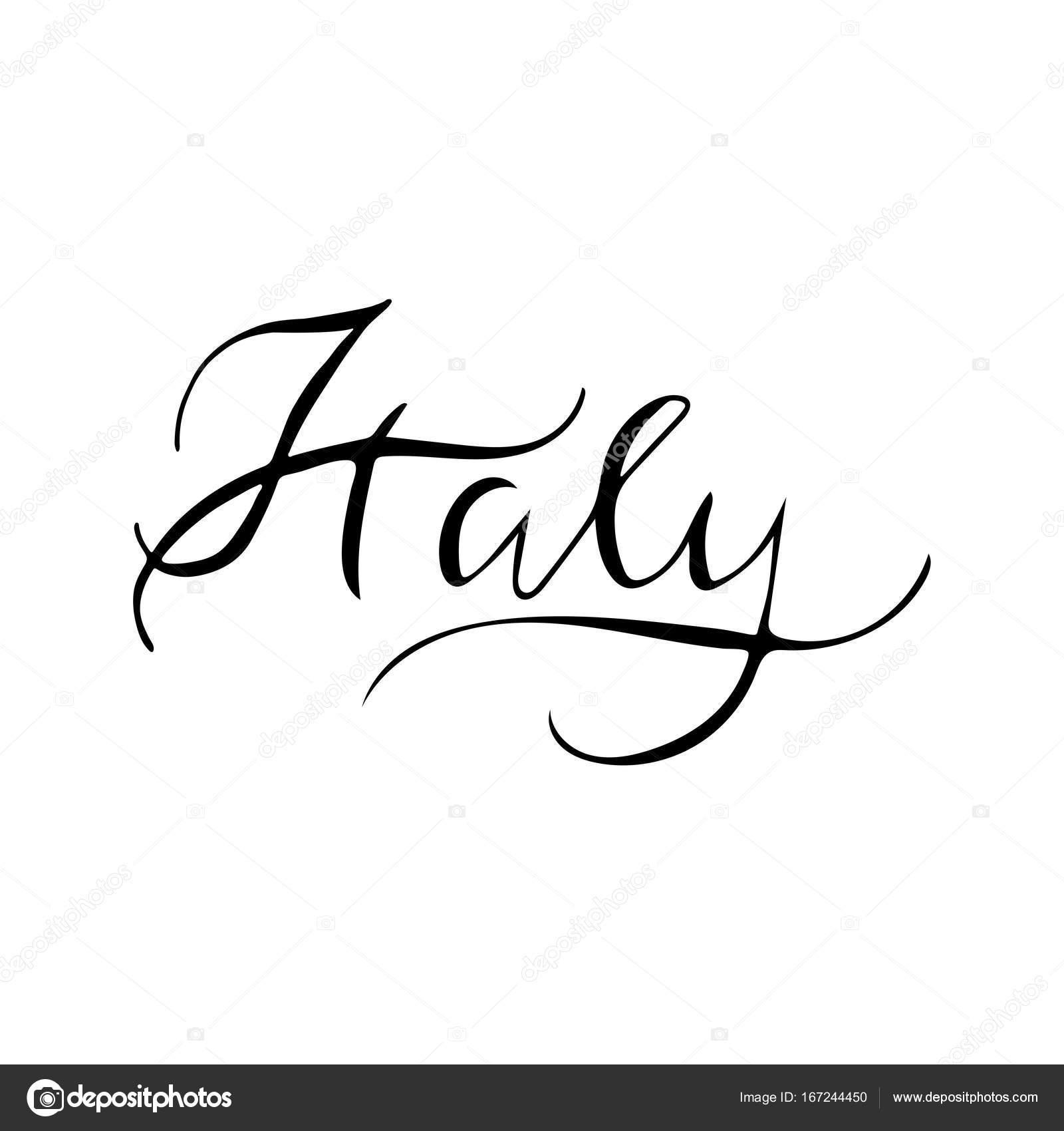 Symbols Of Italy Stock Vector Elinkim 167244450
