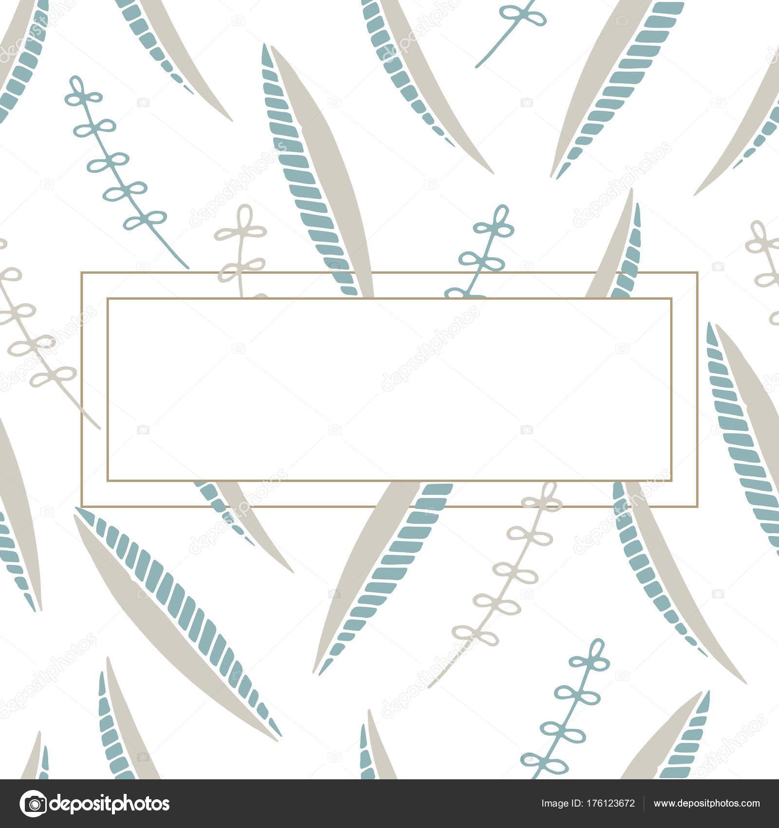 Zauberwald-Vorlage für Text. Blumen Vorlage mit leeren centr ...