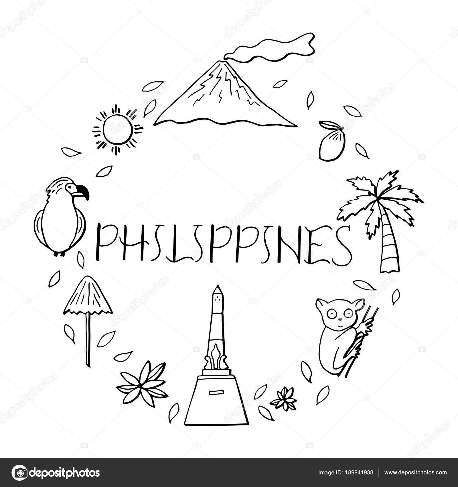 Símbolos nacionales de Filipinas — Archivo Imágenes Vectoriales ...