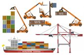 Photo Container ship and lifting equipment.
