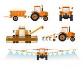 Zemědělské stroje vektor