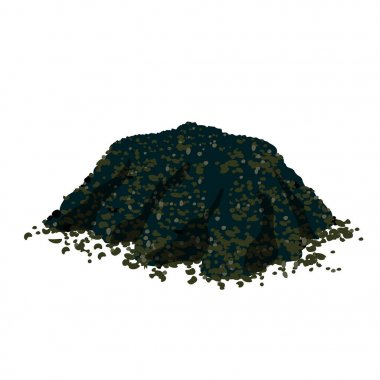 Vector pile of soil