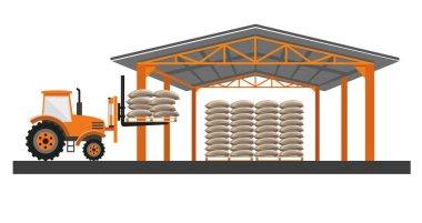 Grain warehouse vector
