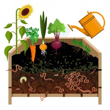 Compost pile vector