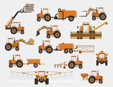 set of agricultural machinery
