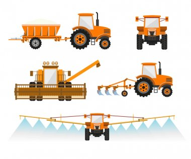 Agricultural machinery vector