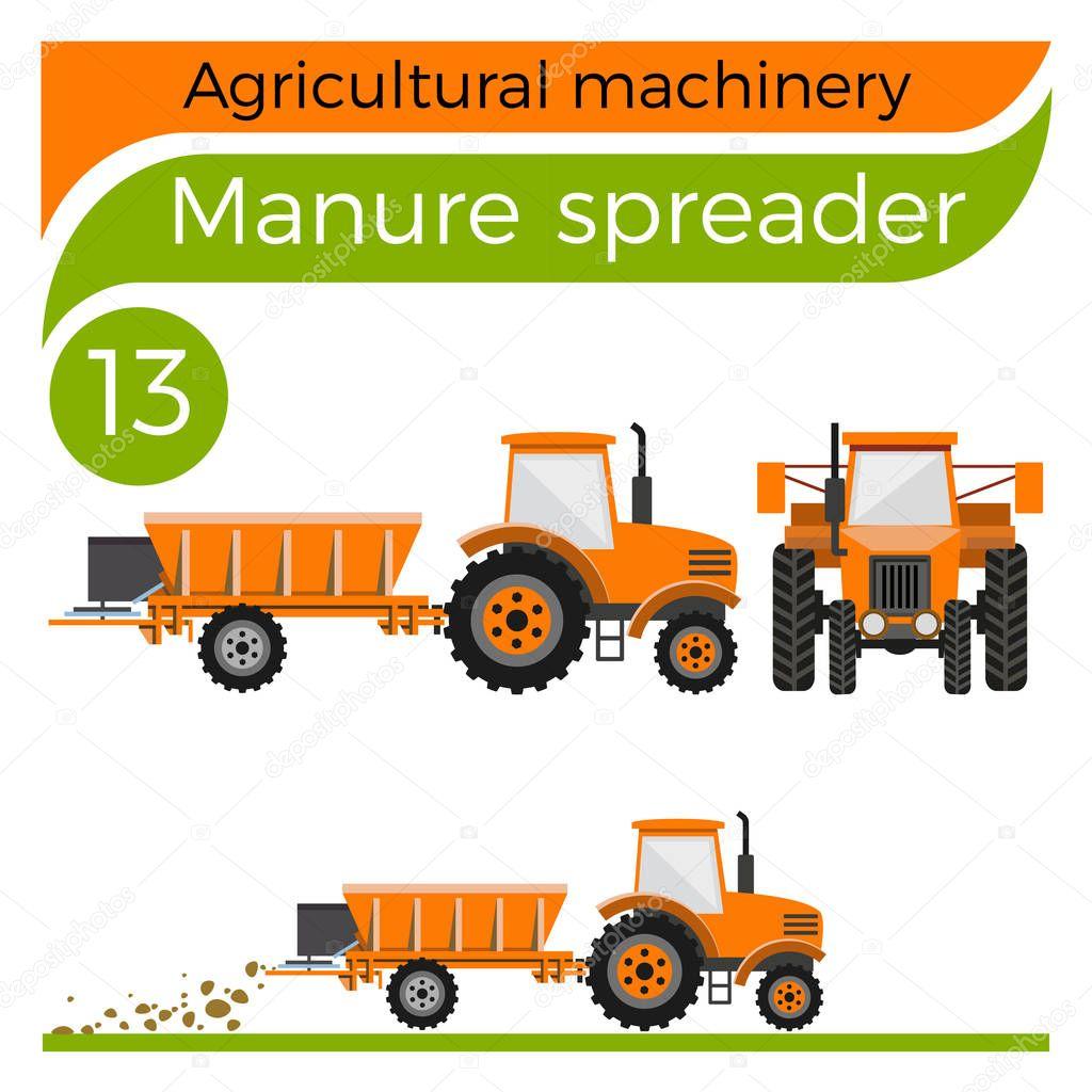 Manure Spreader Vector Stock Vector 169 Newgena 152981342