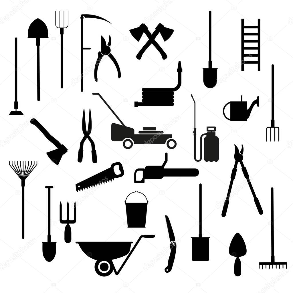 Set of garden tools