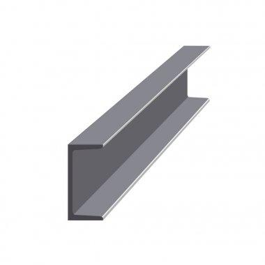 Steel channel vector