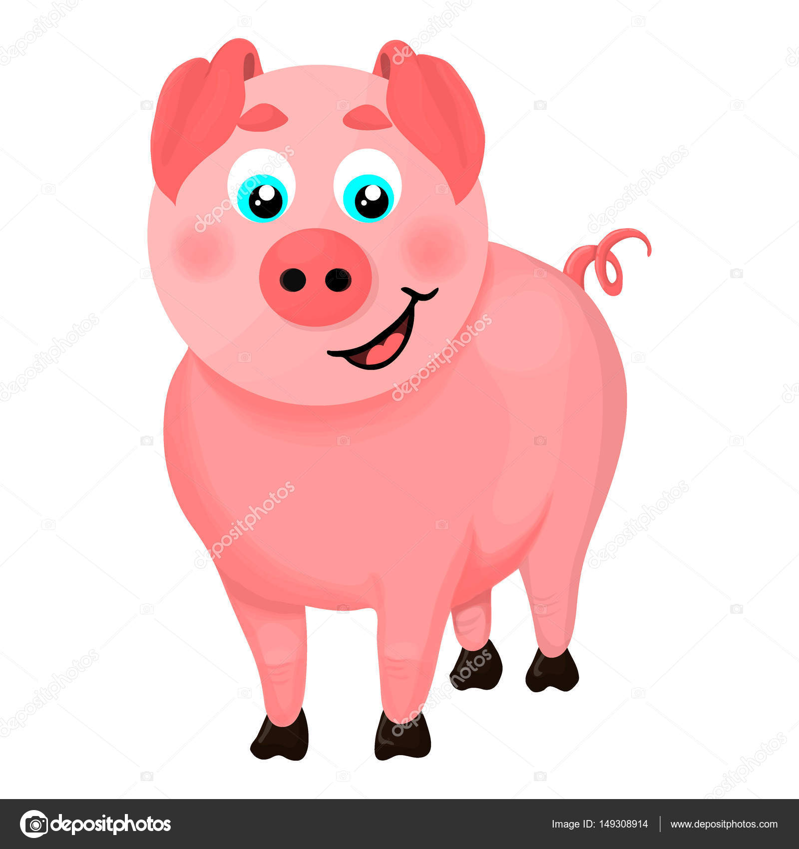 Illustration D Un Cochon Dessin Animé Image Vectorielle