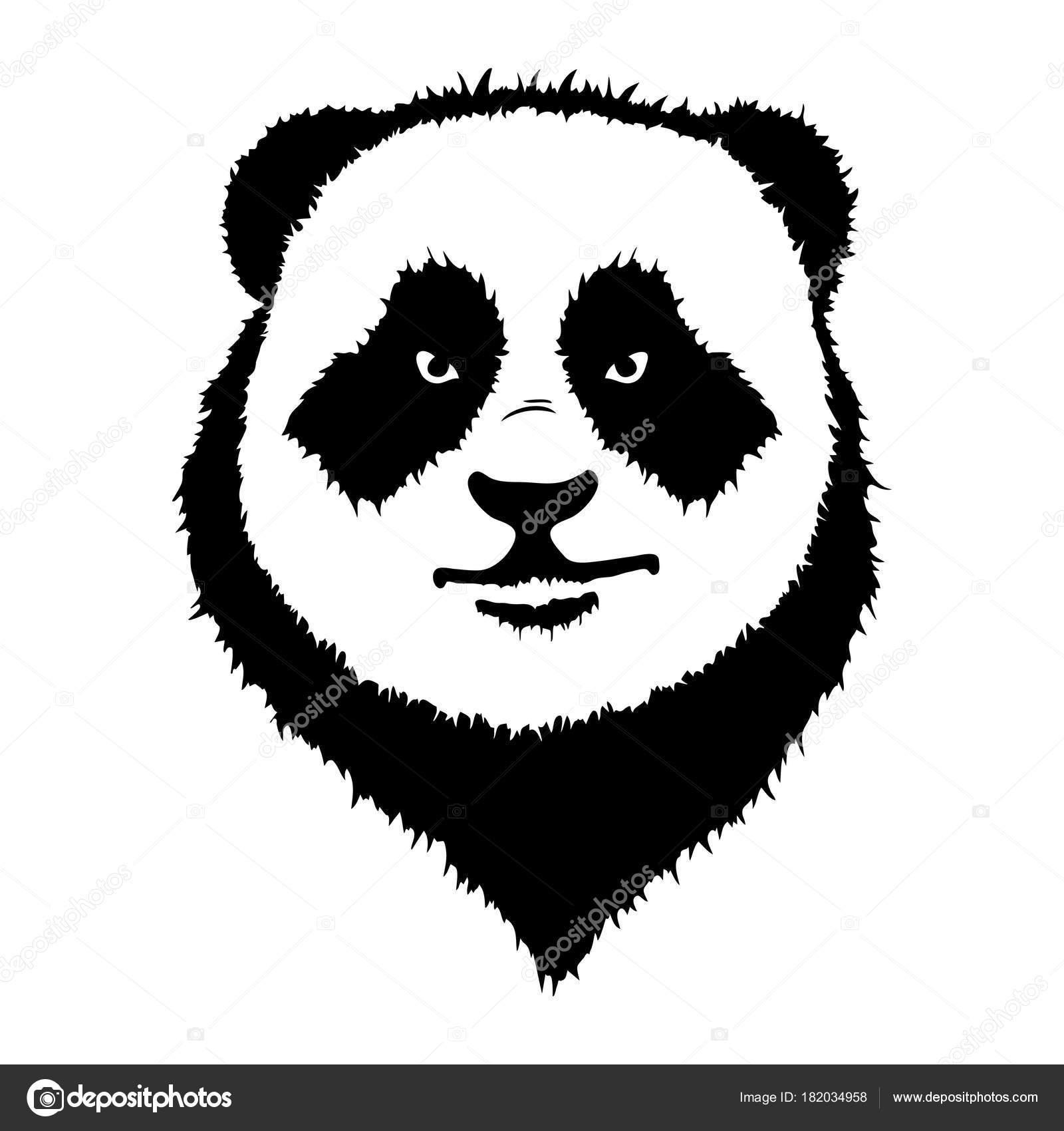 Isolated Illustration Of A Panda Head Stock Vector