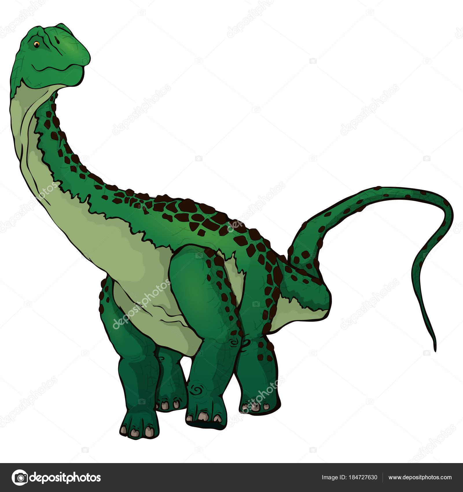 Diplodocus dessin anim mignon image vectorielle kovalchuk130195 184727630 - Dessin de diplodocus ...