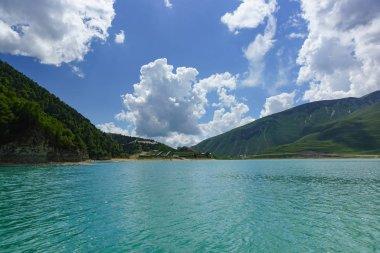 Highland lake Kazenoyam on the southern slope of the Andean mountains at an altitude of 1869 metres above sea level - the largest lake by area of the Chechen Republic and the greater Caucasus