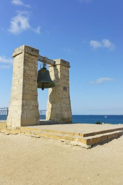 Ukraine, Crimea, Sevastopol - September 04.2017: bell Alarm - a monument of history of the city of Sevastopol, located in Quarantine Bay of Tauric Chersonesos