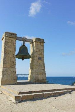 Ukraine, Crimea, Sevastopol - September 04.2017: the bell of Chersonesos is a monument of history of the city of Sevastopol, located in Quarantine Bay of Hersonissos
