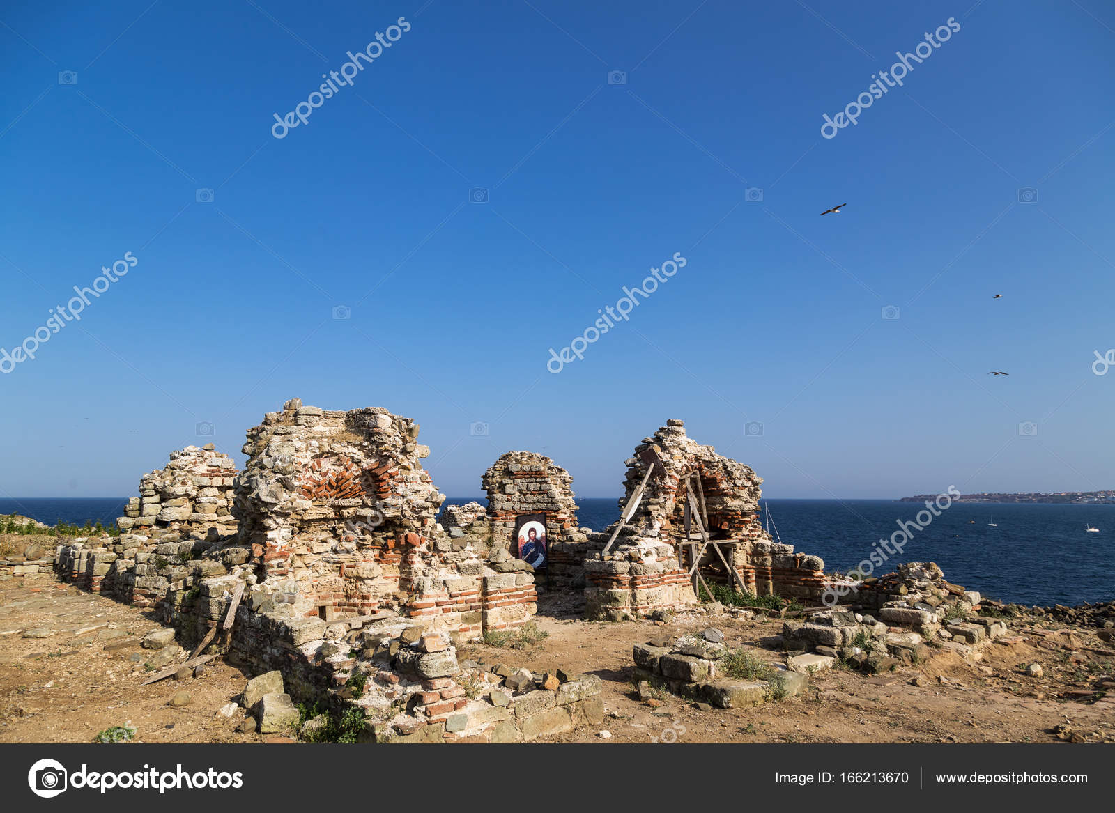Ruins of st ivan island near sozopol bulgaria stock photo ruins of st ivan island near sozopol bulgaria stock photo publicscrutiny Image collections