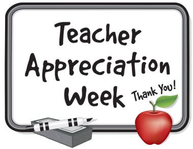 Teacher Appreciation Week Whiteboard, Thank You! Apple