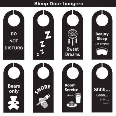 Sleep, Rest, Take a Nap Door Hangers