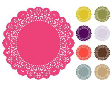 Lace Doily Place Mats, Pantone Colors