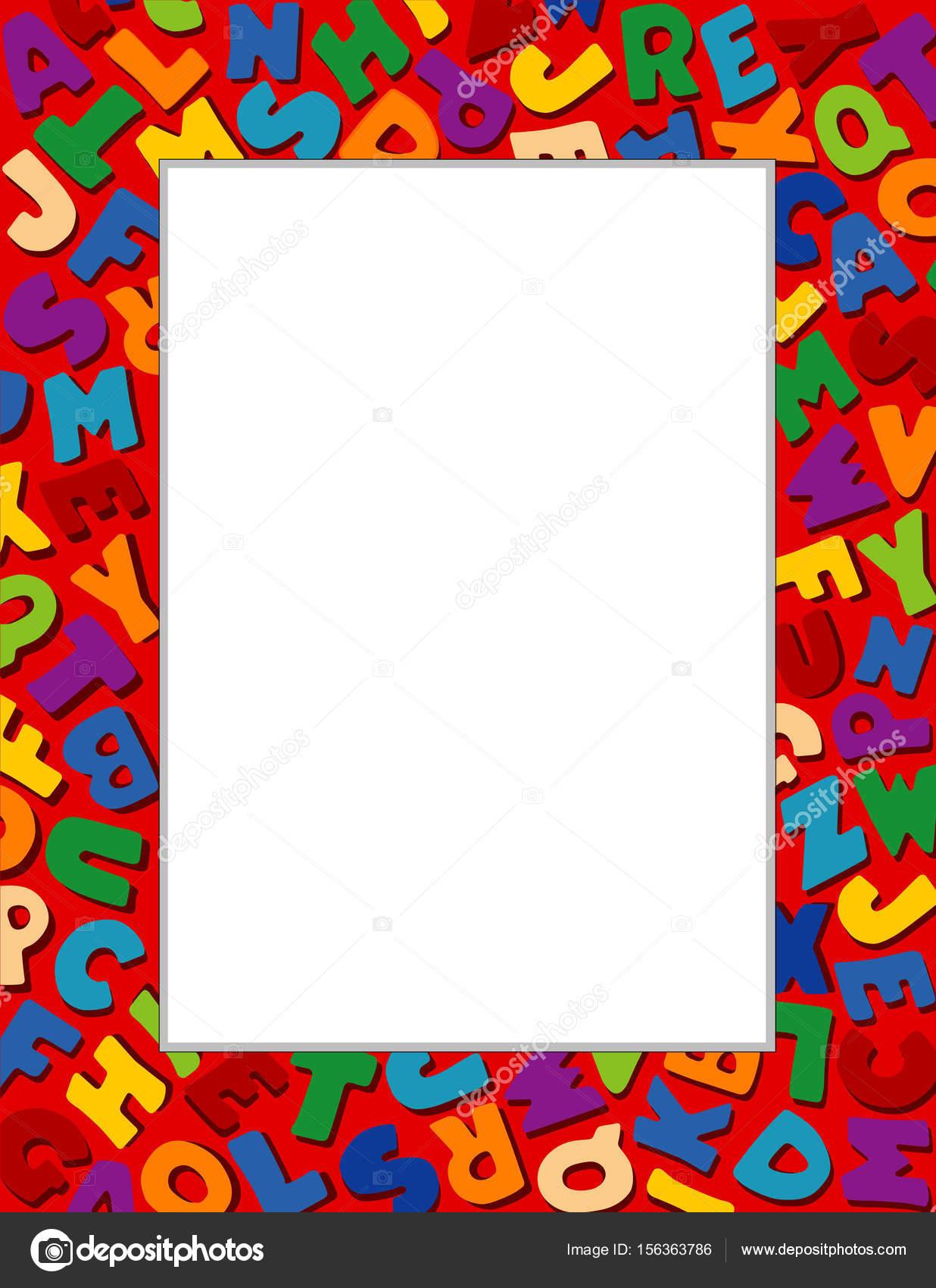 Marco de alfabeto, fondo rojo — Vector de stock © casejustin #156363786