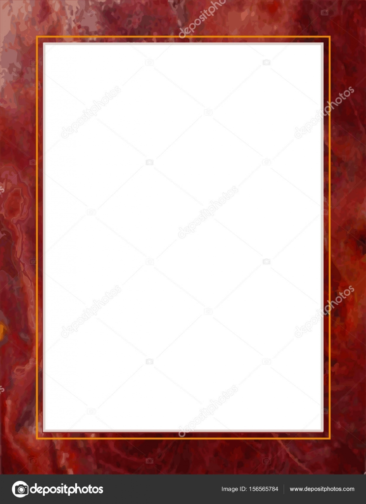Marmor, Gold, Rahmen und rot mit Strudeln Magenta — Stockvektor ...
